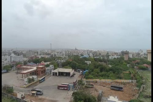 Aerial View Of City and Beauty of Nature