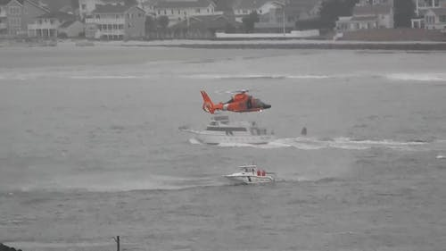 Coast Guards On Plane To Rescue