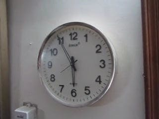 Time On Wall Clock