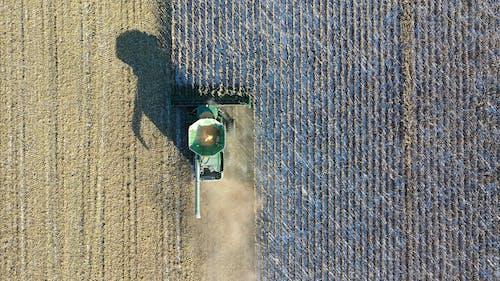 A Farming Equipment At Work