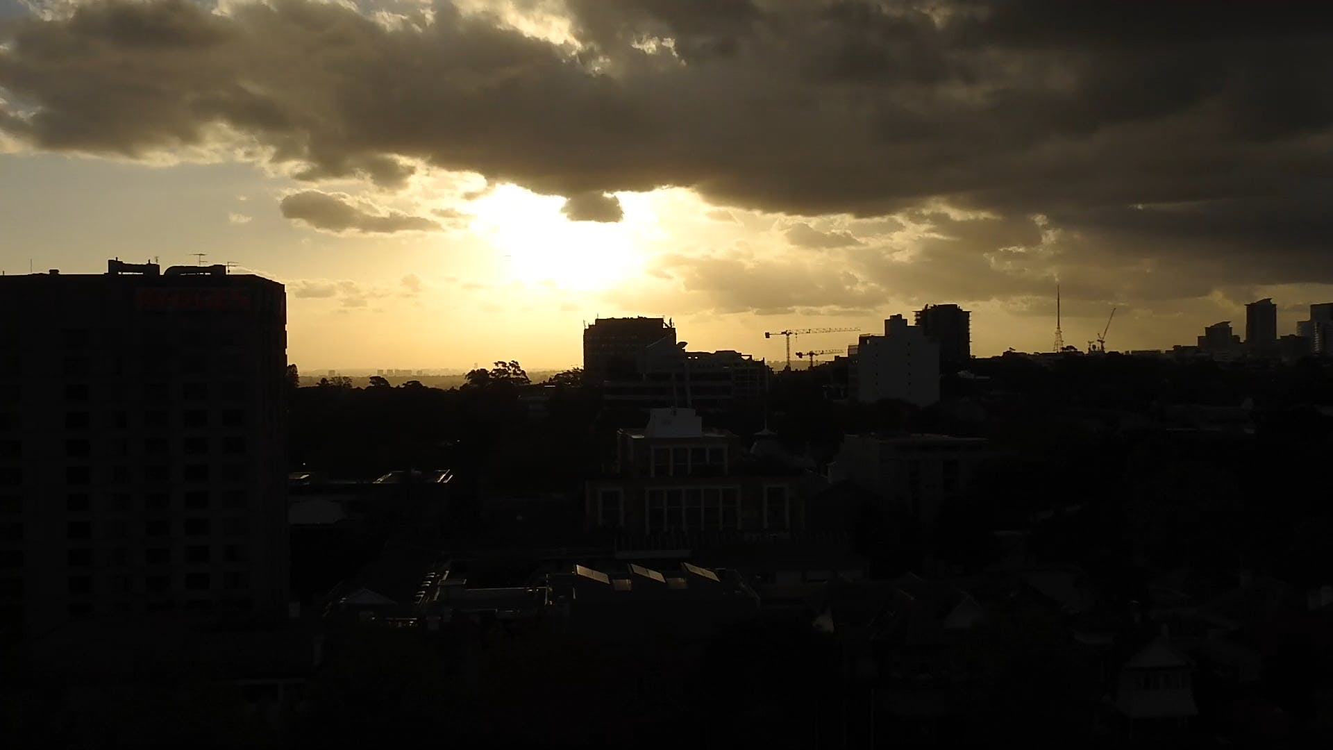 Timelapse Of Clouds Over The City
