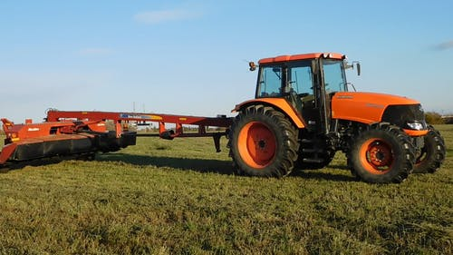 A Huge Tractor In The Field