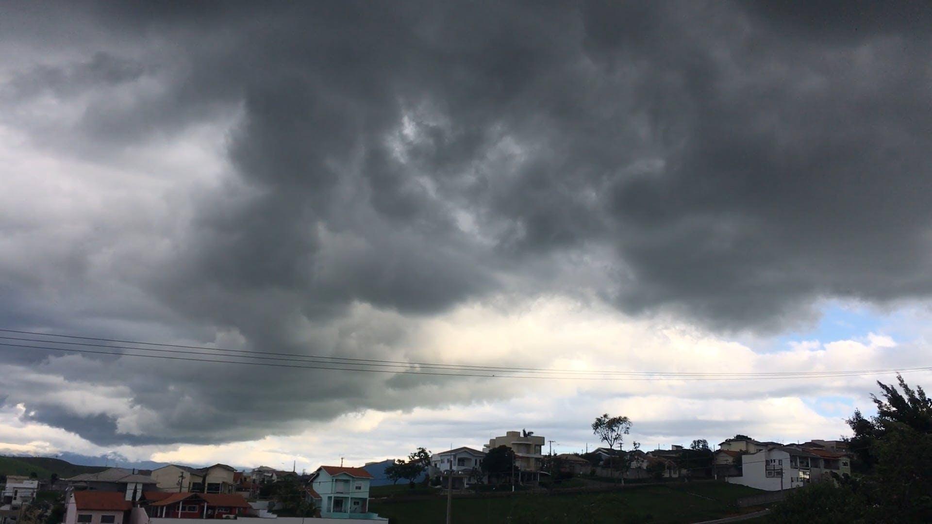Dark Clouds Above A Village