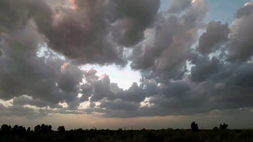 View Of The Clouds In Timelapse Mode