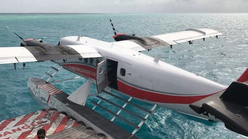 Float Plane Aircraft On Water