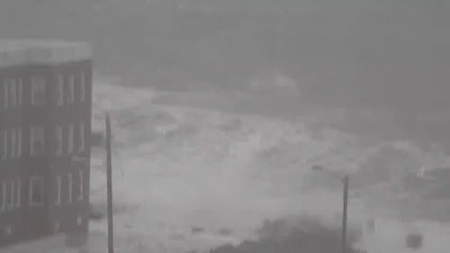 Video Of Strong Waves Due To Typhoon