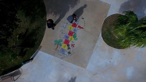 Drone View Of People Playing IN The Park