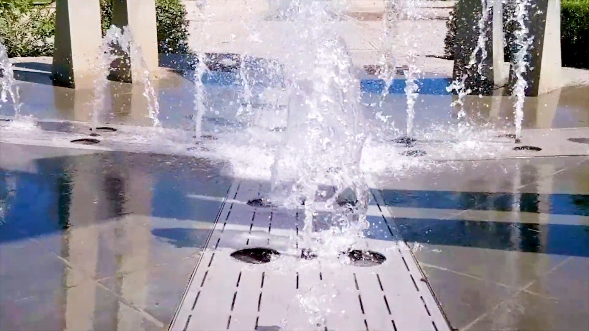 Water Fountain At A Park