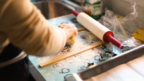 Person Preparing The Dough