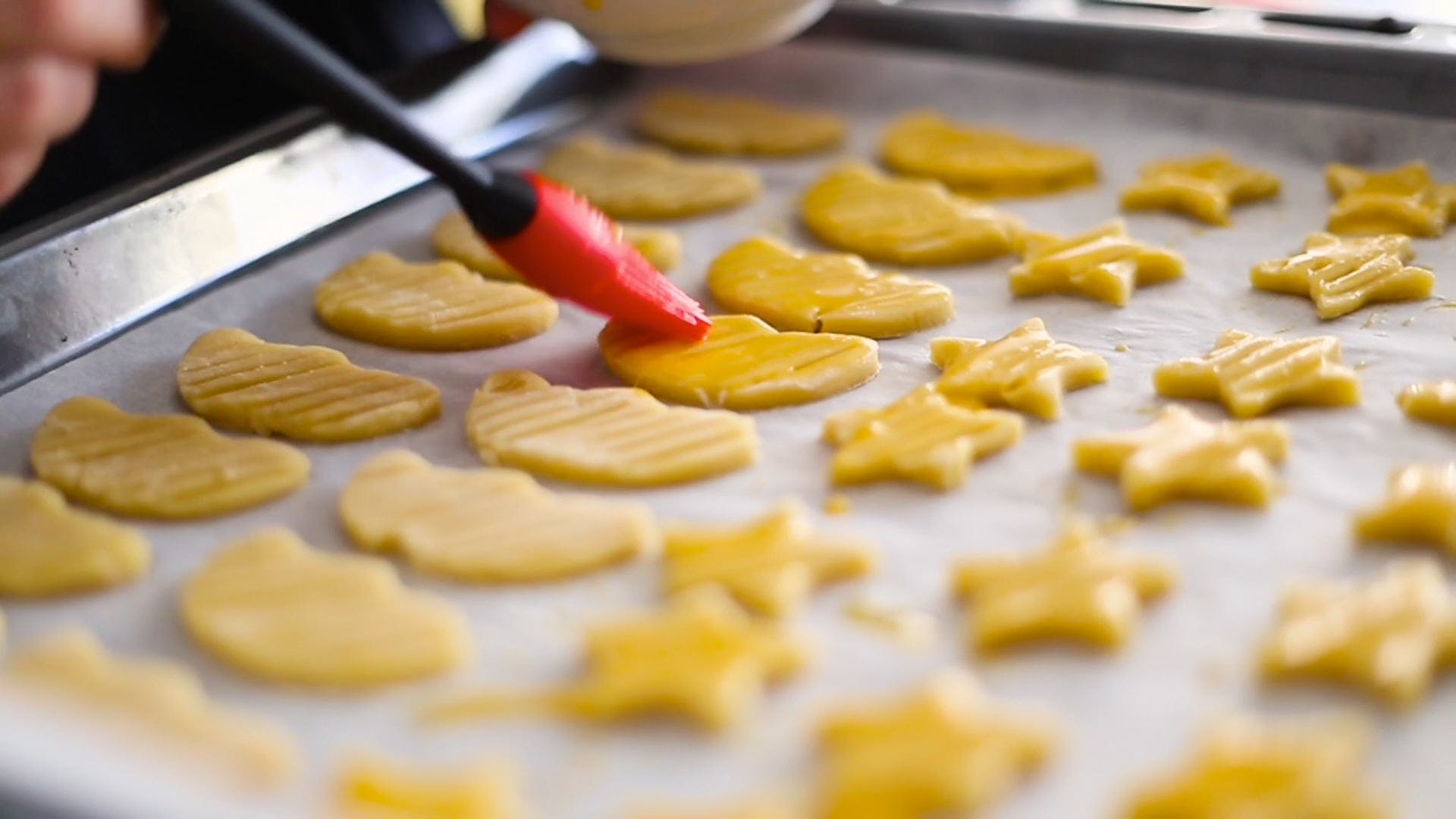 Person Preparing To Bake Cookies