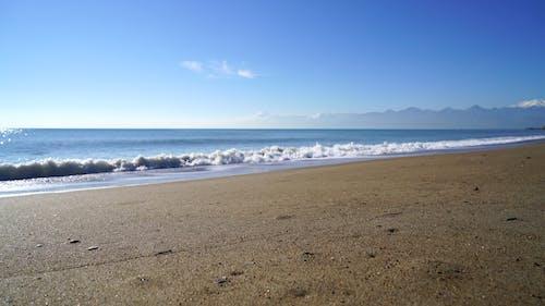 Piękna Plaża Z Widokiem Na Horyzont