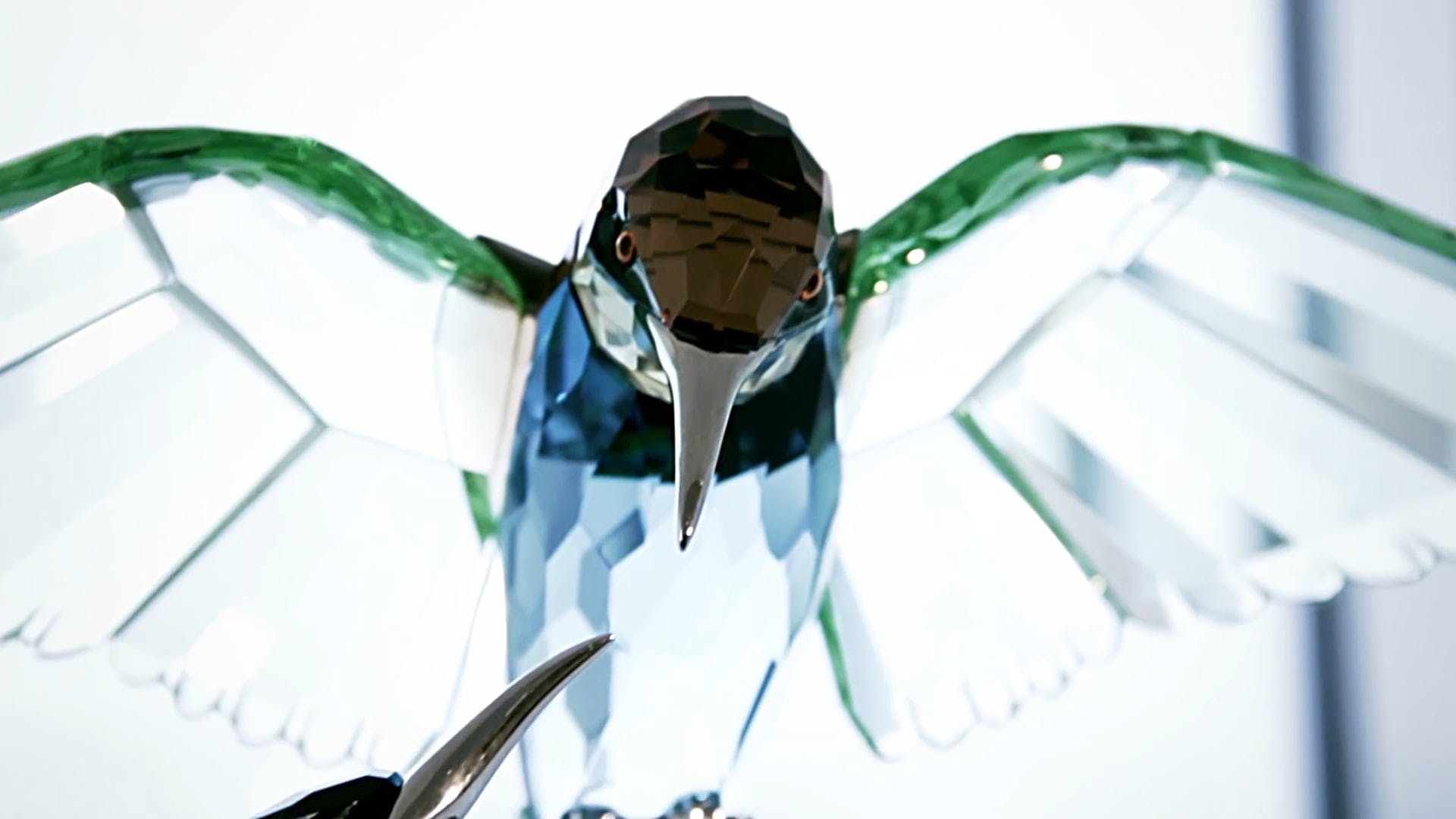 Birds Made Of Crystal Glass