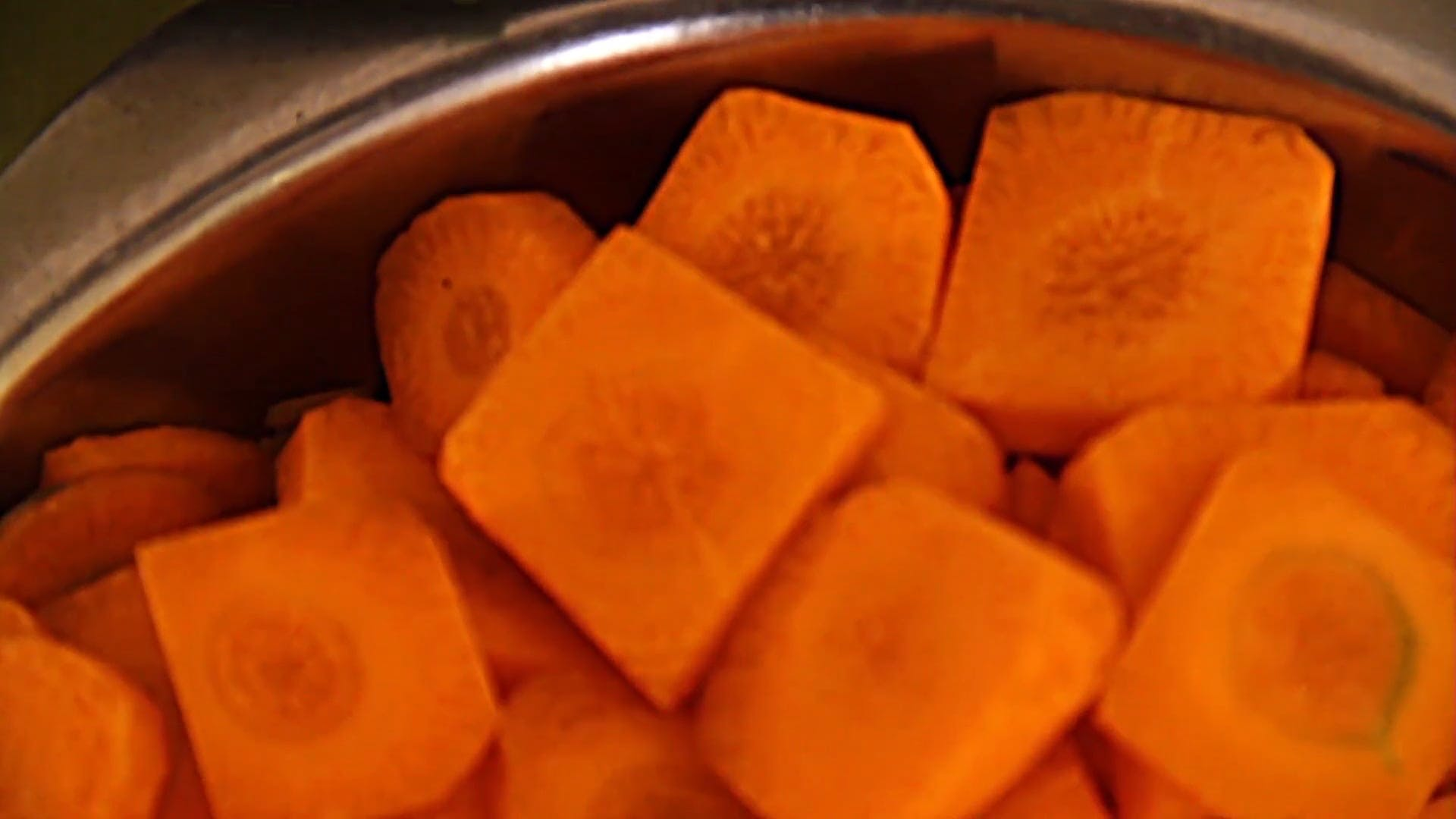 Sliced Carrots In A Bowl
