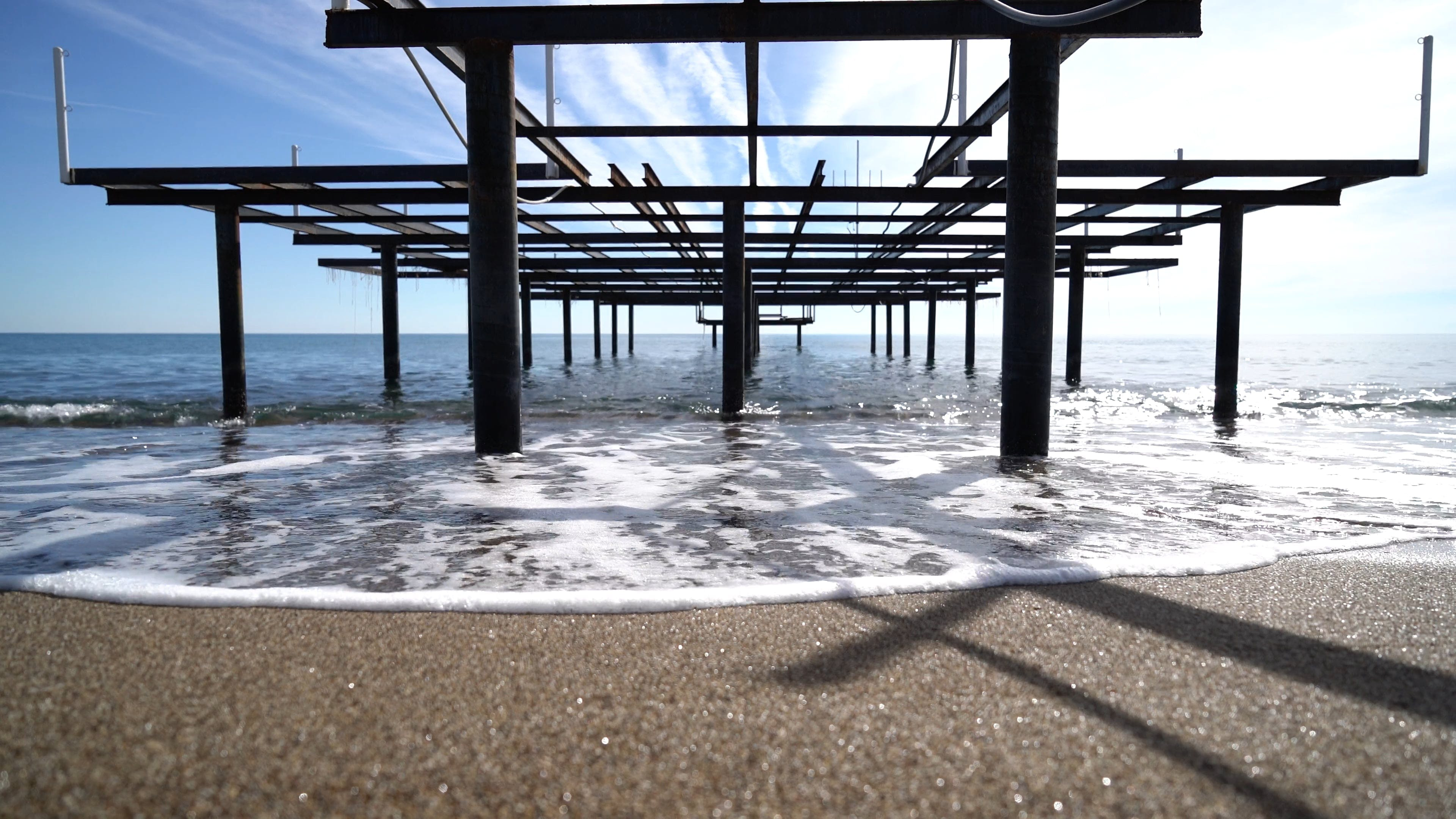 Steel Structure On A Beach