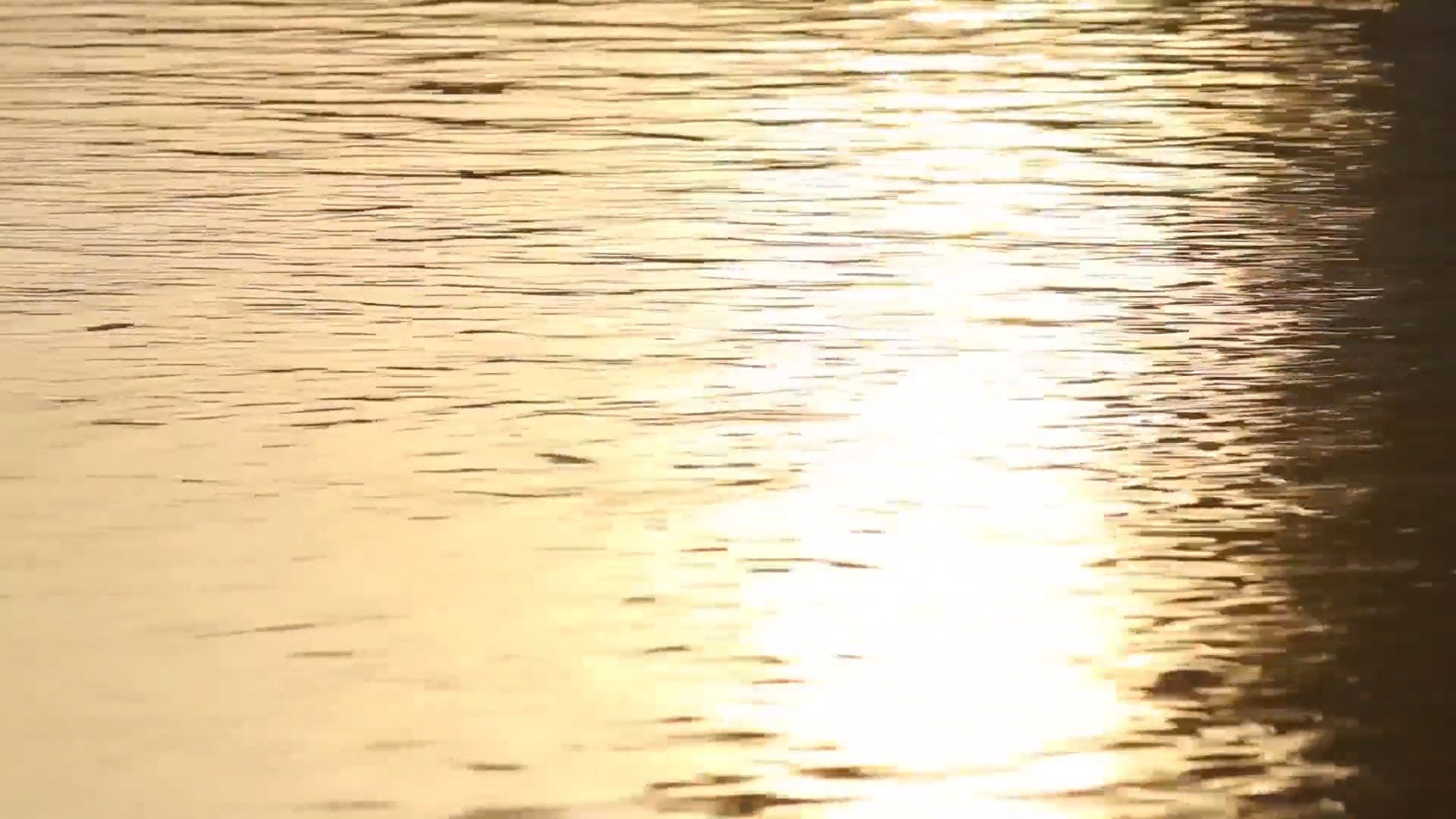 Sun Beam On Body Of Water