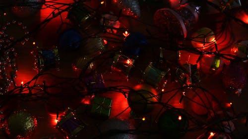 Christmas Ornaments And Dancing Lights