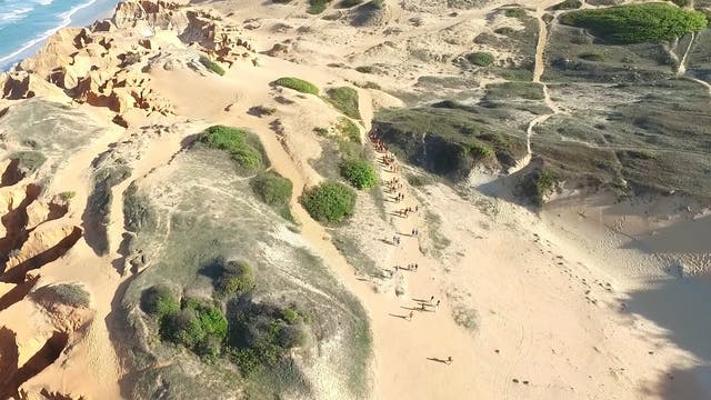 People Traveling In The Desert