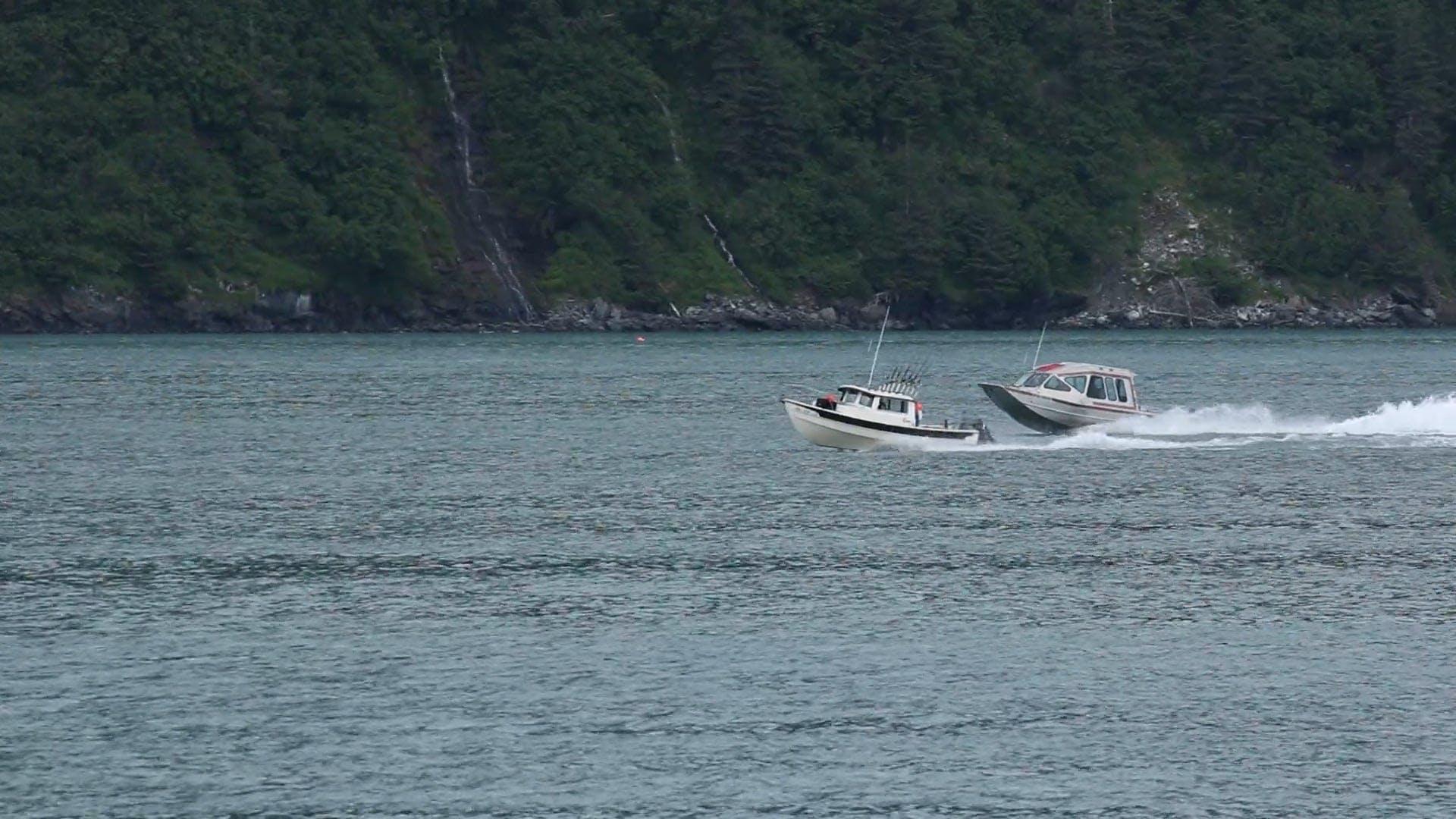 Two Speedboats Racing