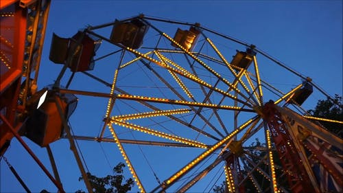 Low Angle Shot of A Ferris Wheel