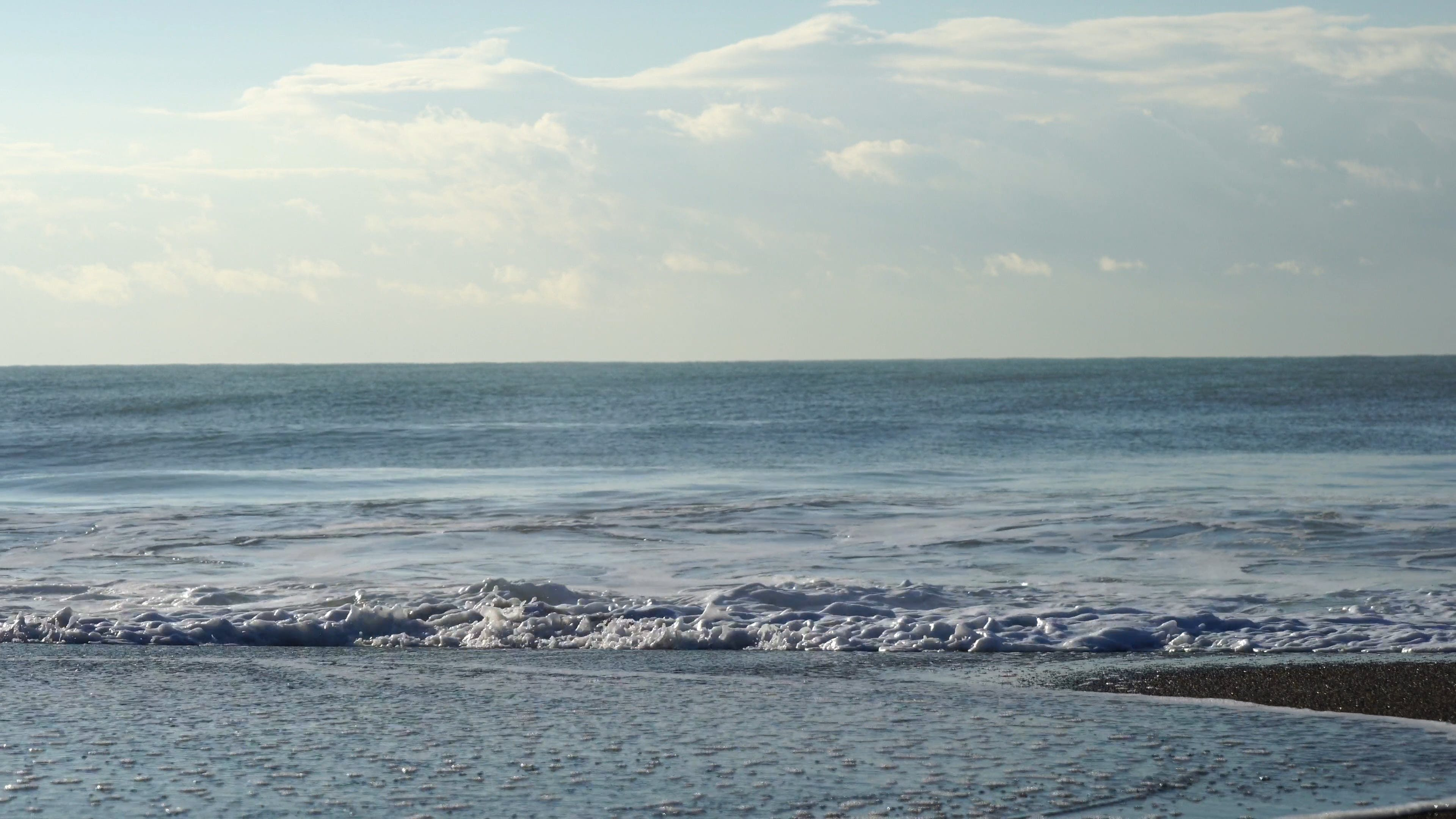 View Of Beach With Huge Waves