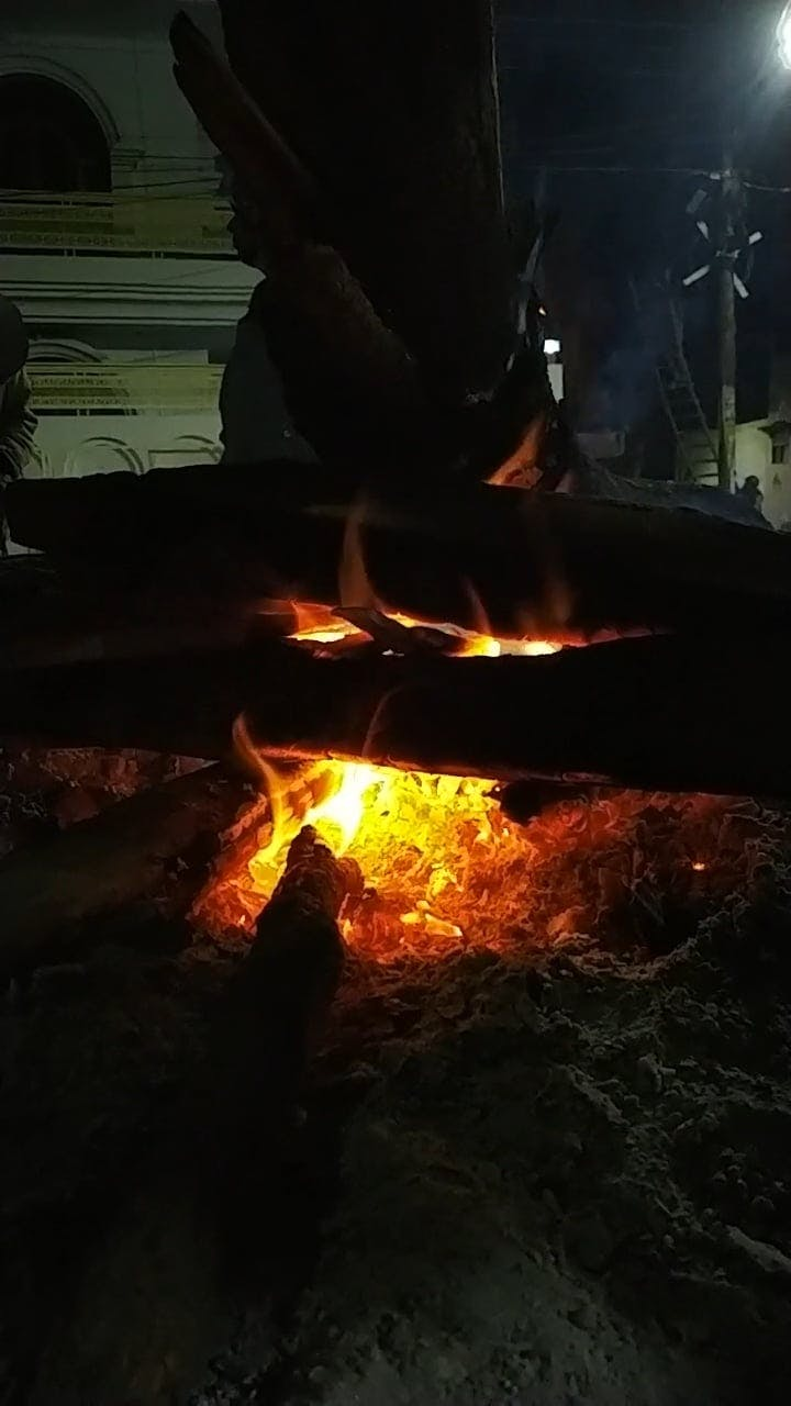Warmth From A Burning Firewood
