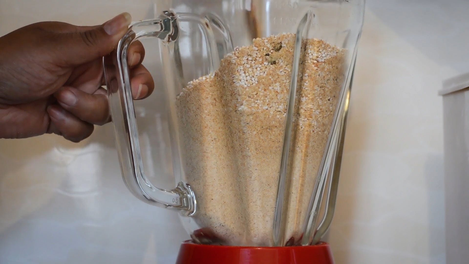 Powdered Mixture In A Blender