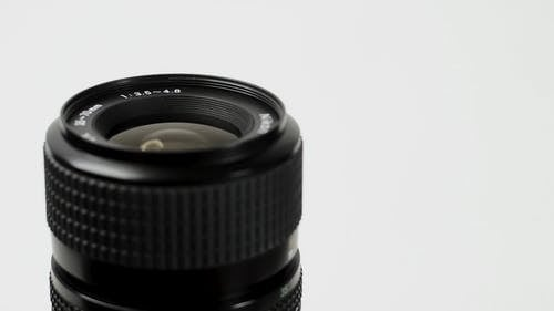 Close View Of A Lens Of A Camera
