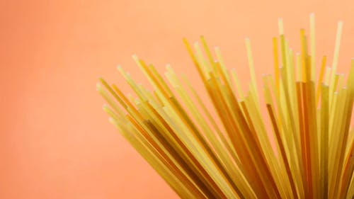 Close-Up View Of Spaghetti Noodles