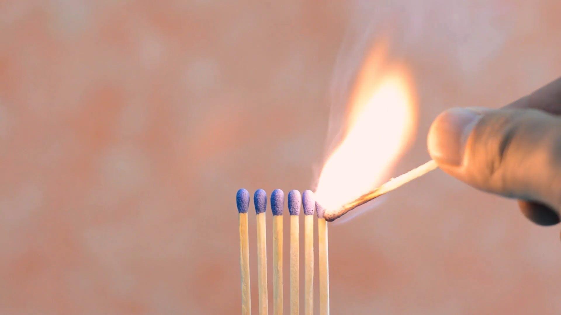 Match Sticks Burning