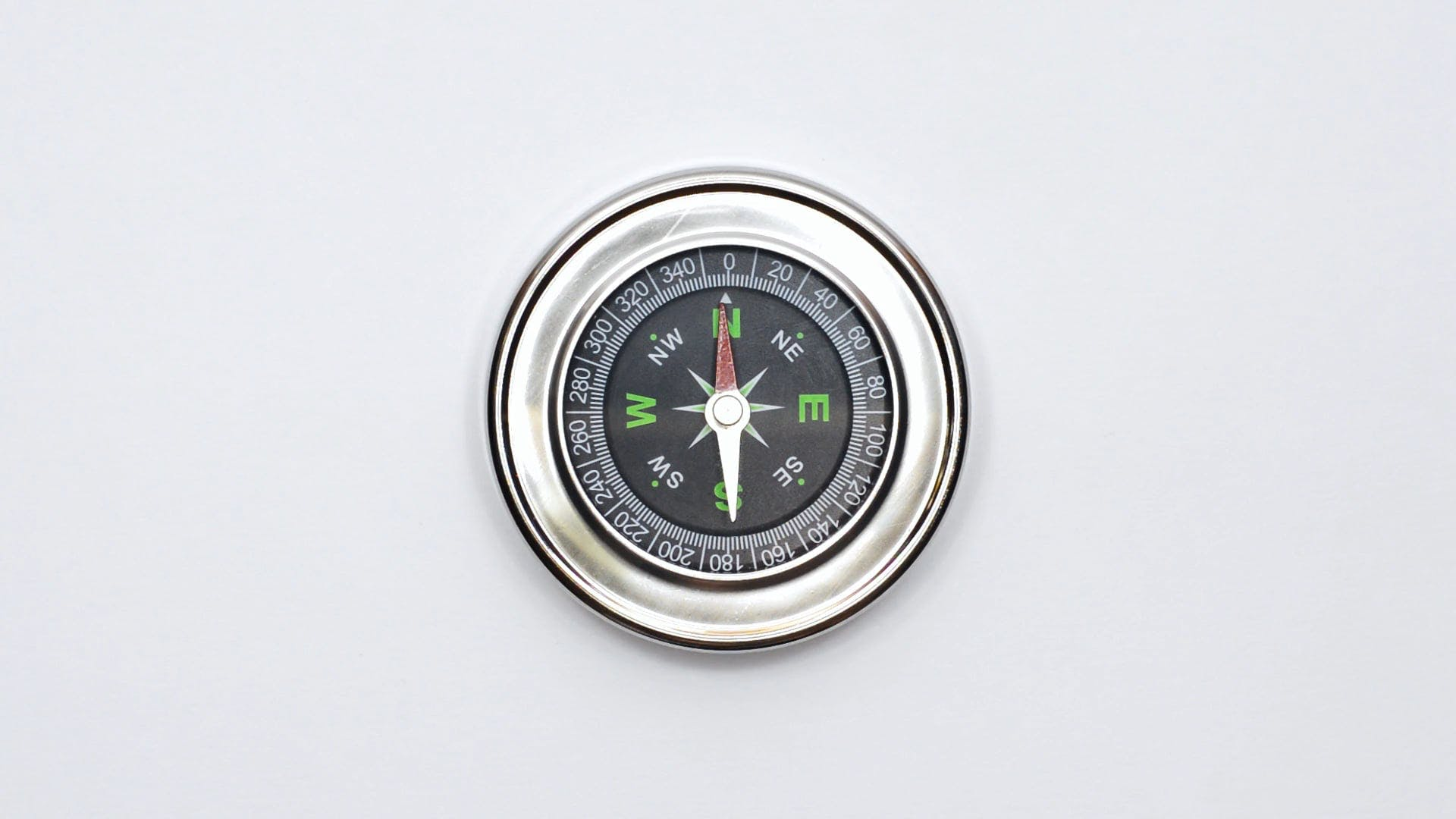 Close-Up View Of A Compass