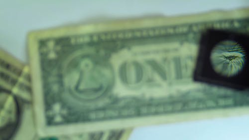 A Magnified Dollar Bill