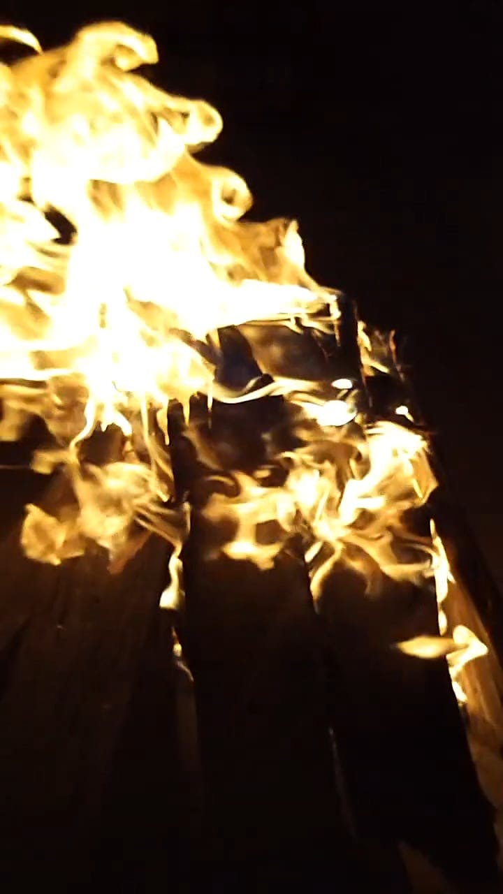Burning Firewood in Timelapse Mode