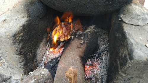 Outdoor Cooking With Firewood