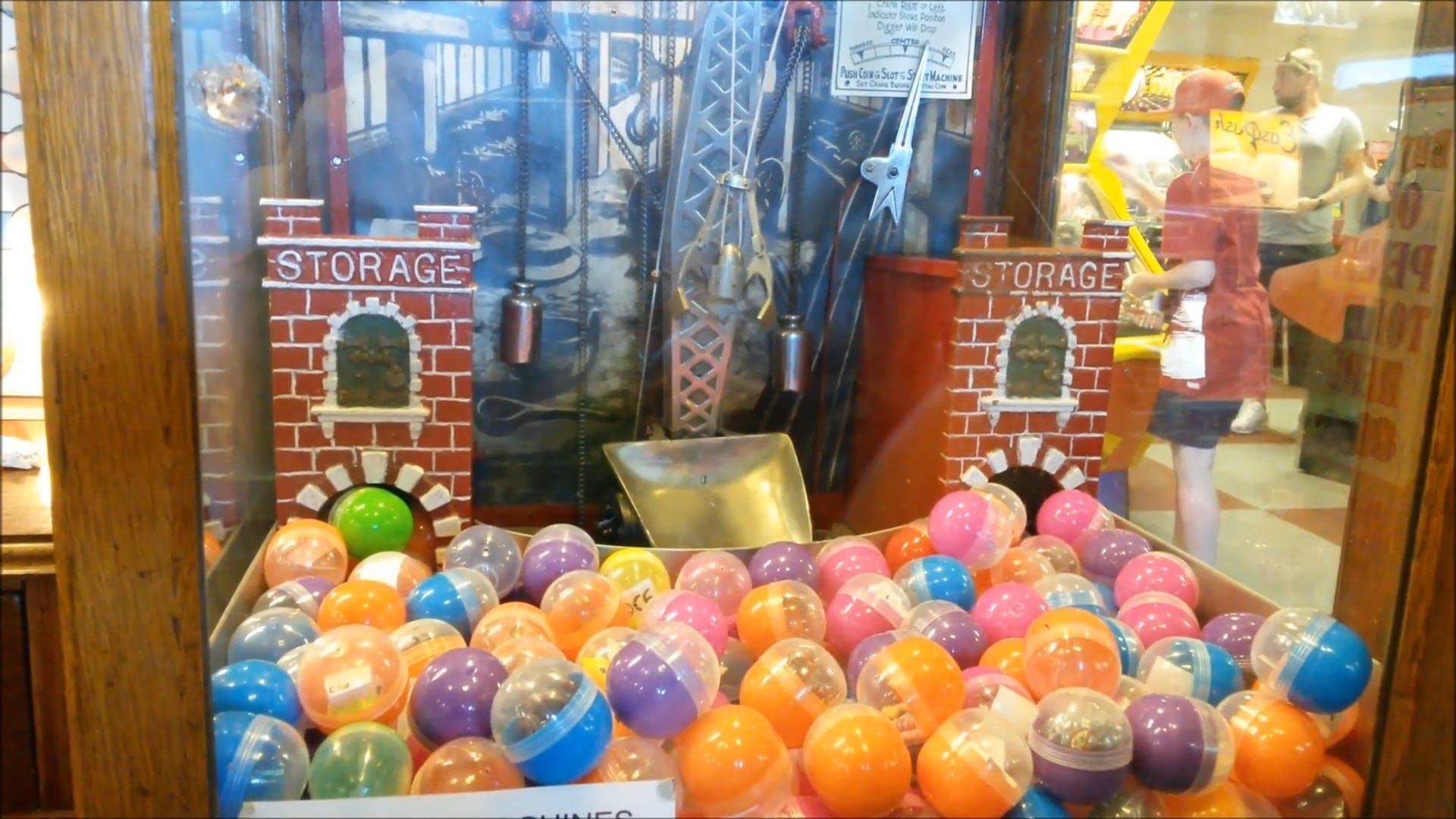 An Arcade Game Machine With Balls