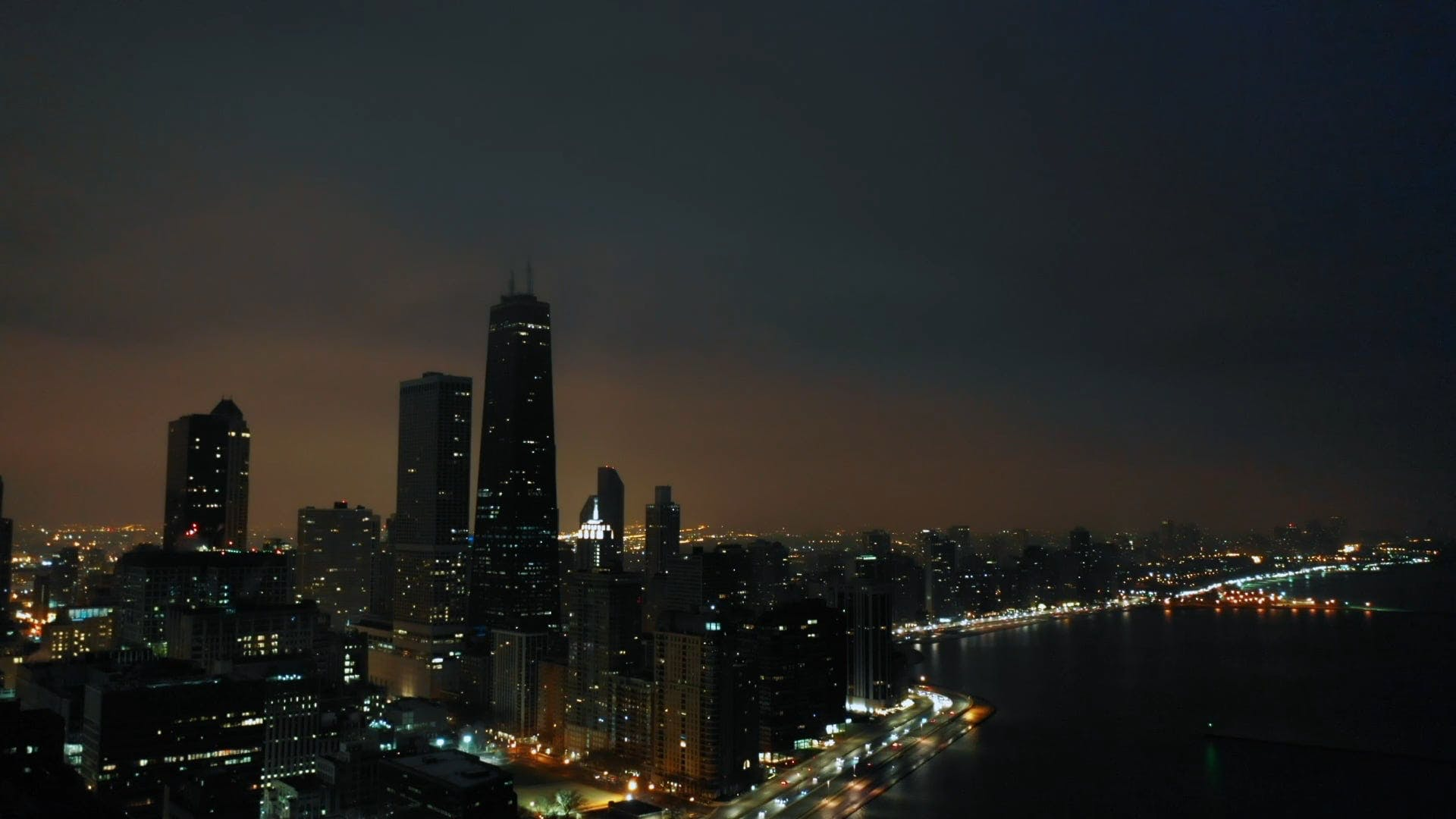 Panoramic View Of A City At Night