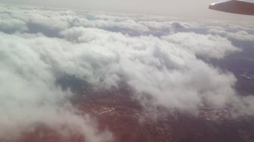 View Of Earth's Surface From An Aircraft