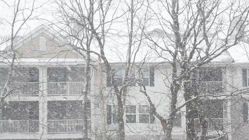 Heavy Snow Falling