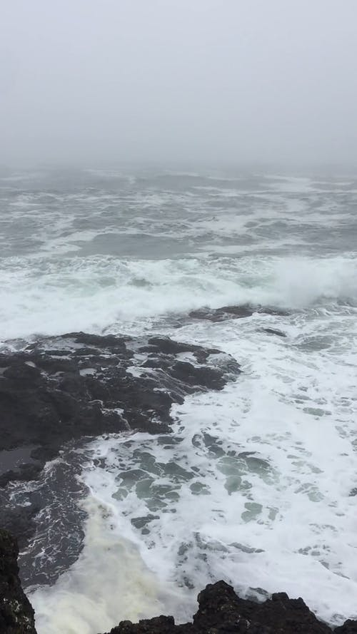 View of The Sea During Typhoon