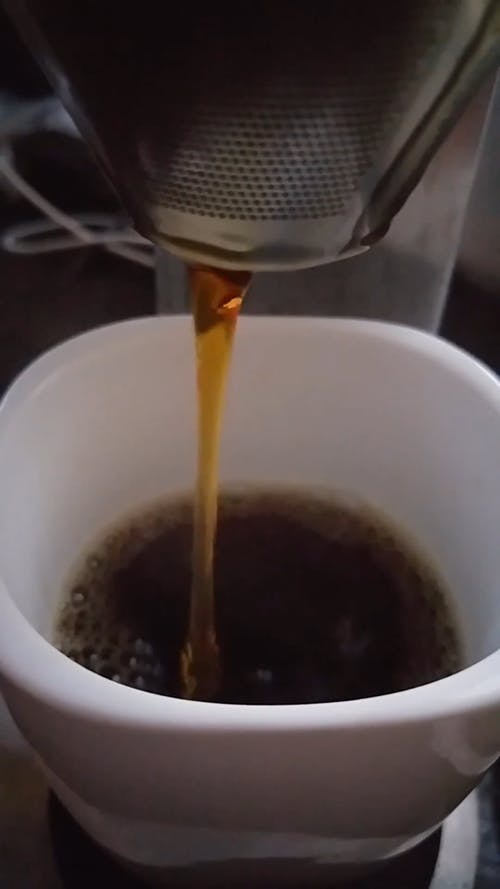 Close-Up View Of Brewed Coffee In A Cup