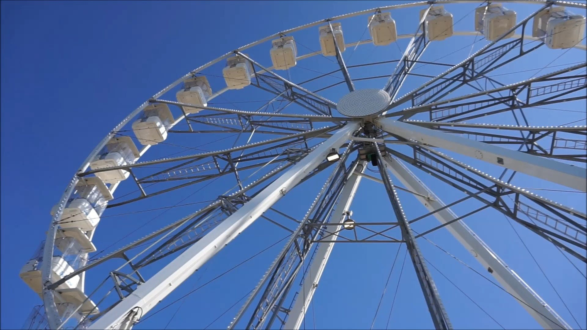 Ferris Wheel At Close-Up View