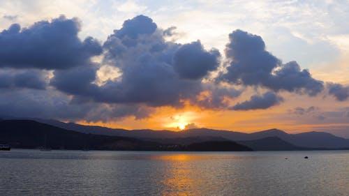 Eine Schöne Aussicht Auf Den Sonnenuntergang