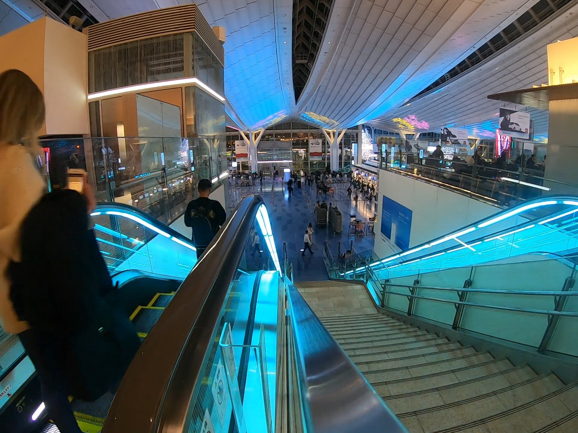People In A Shopping Center In Timelapse Mode
