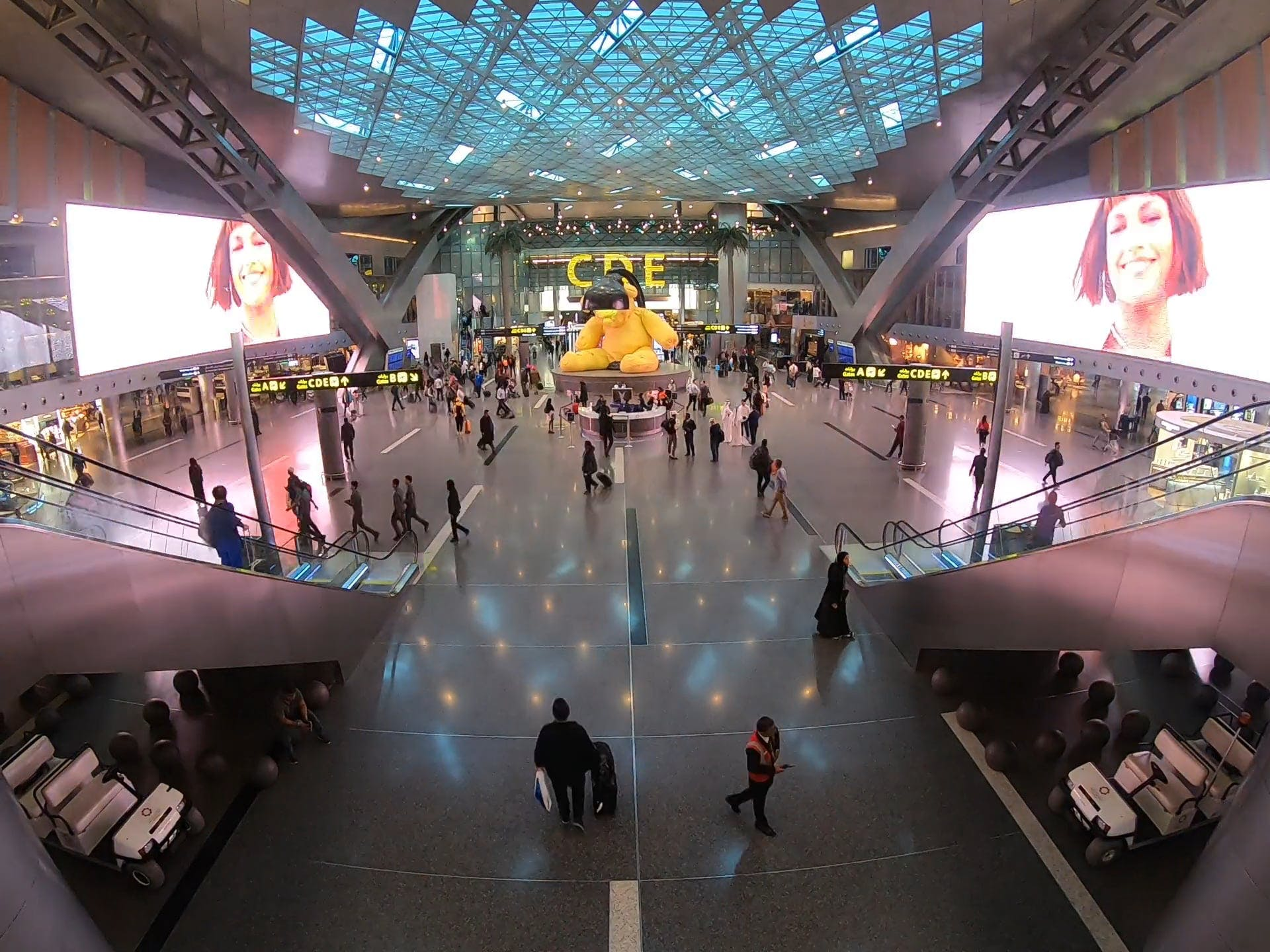Passengers In An Airport In Timelapse Mode