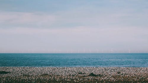 A Beautiful View Of The Beach and Horizon