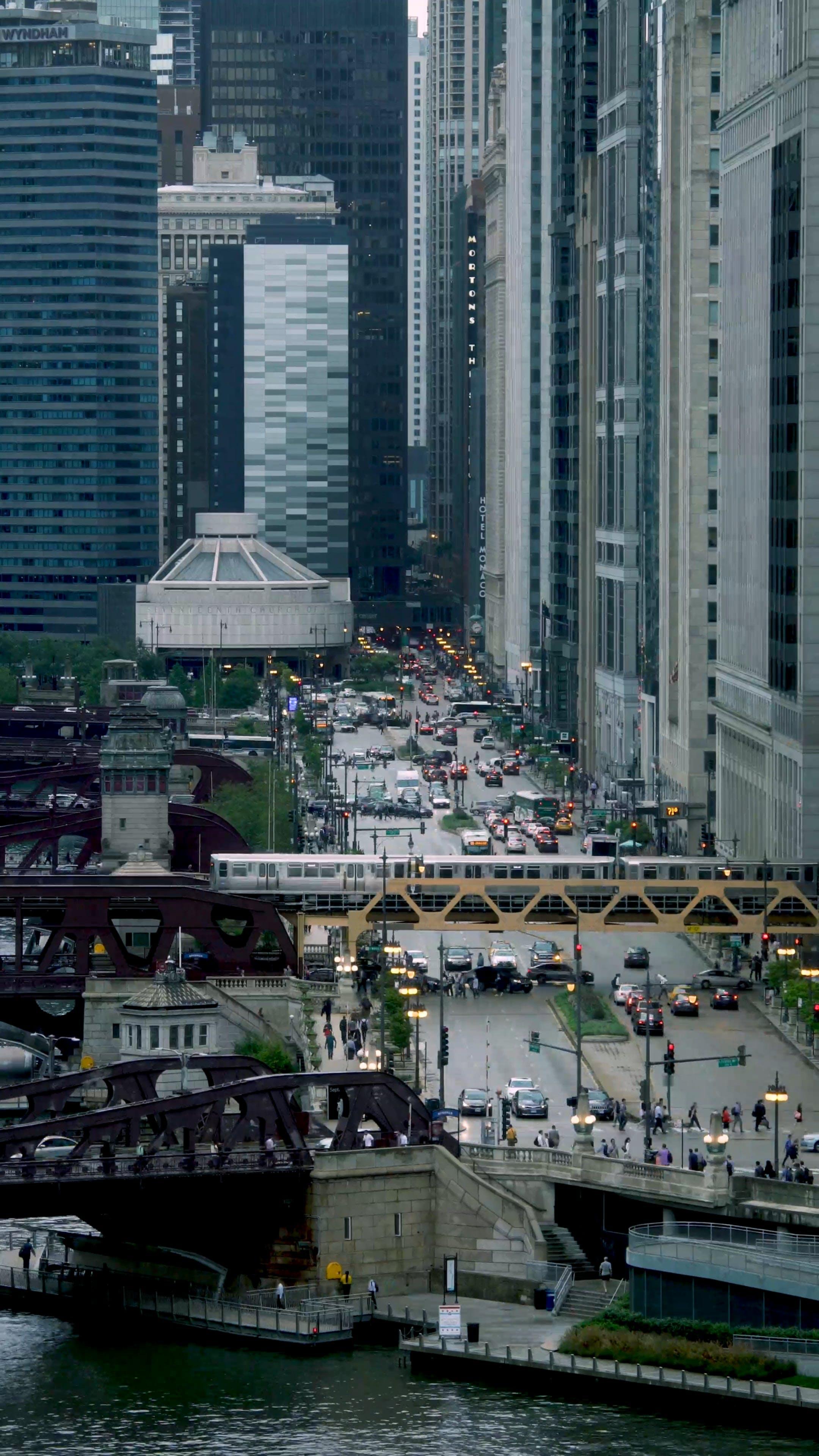 A Busy City Center