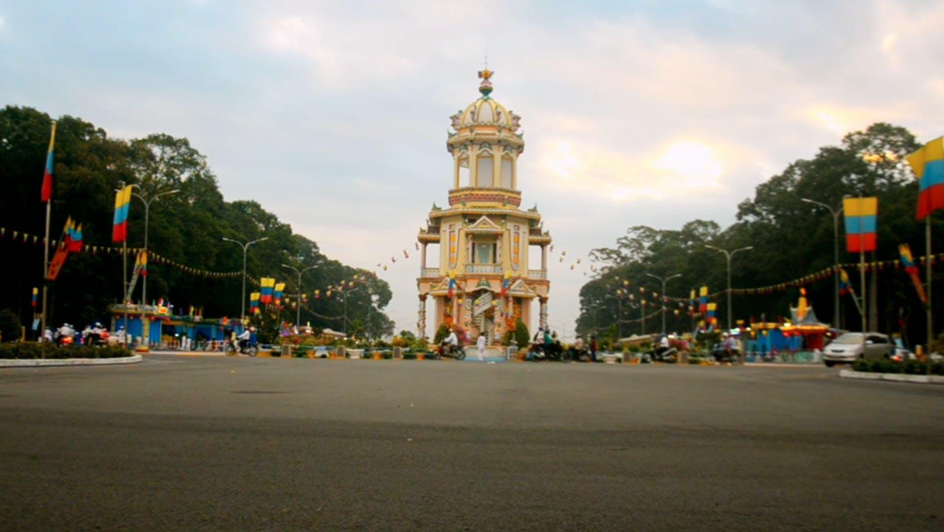 Buddhist Temple Having A Celebration