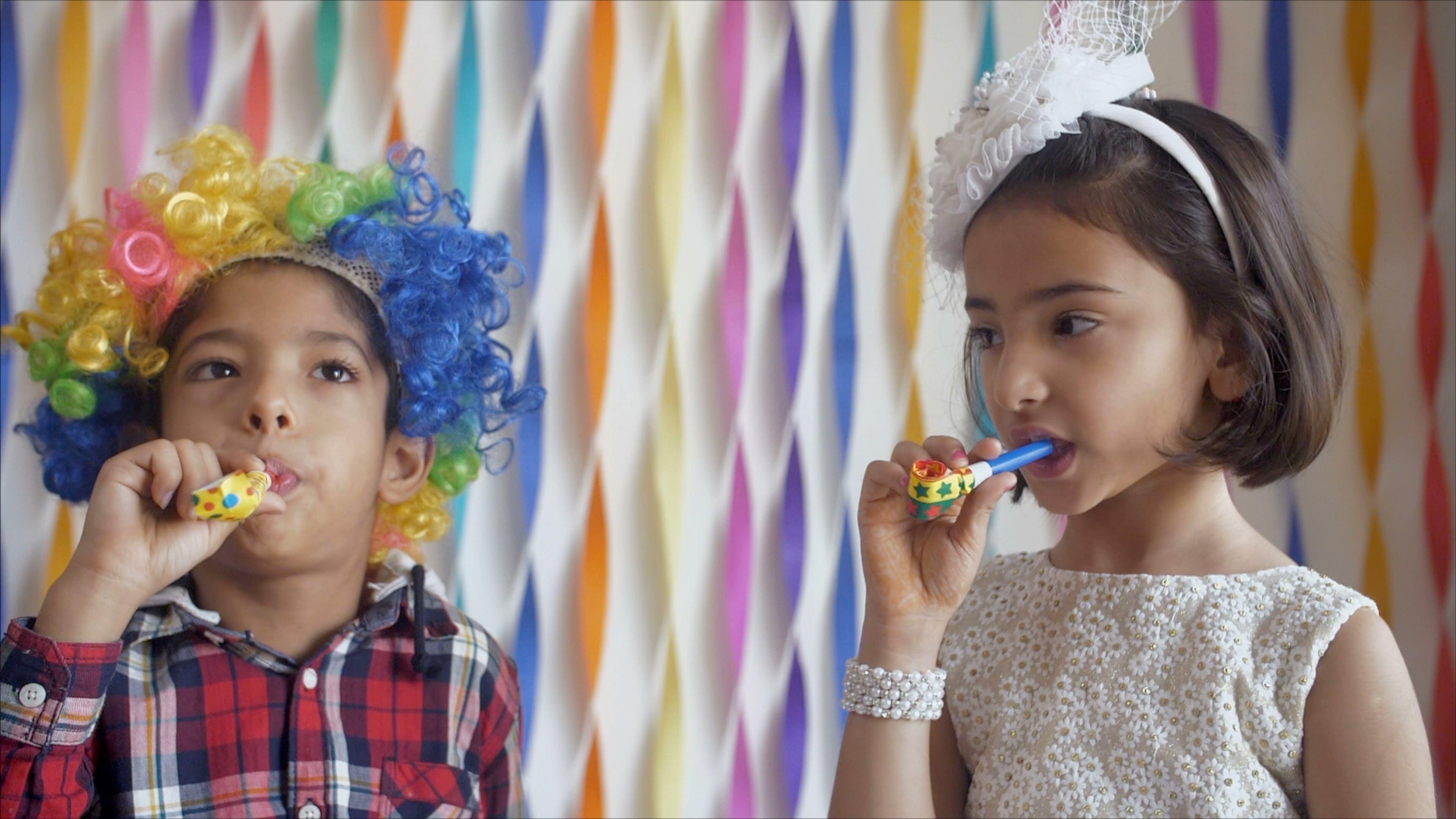 Slow Motion Video Of Kids Having Fun On A Party
