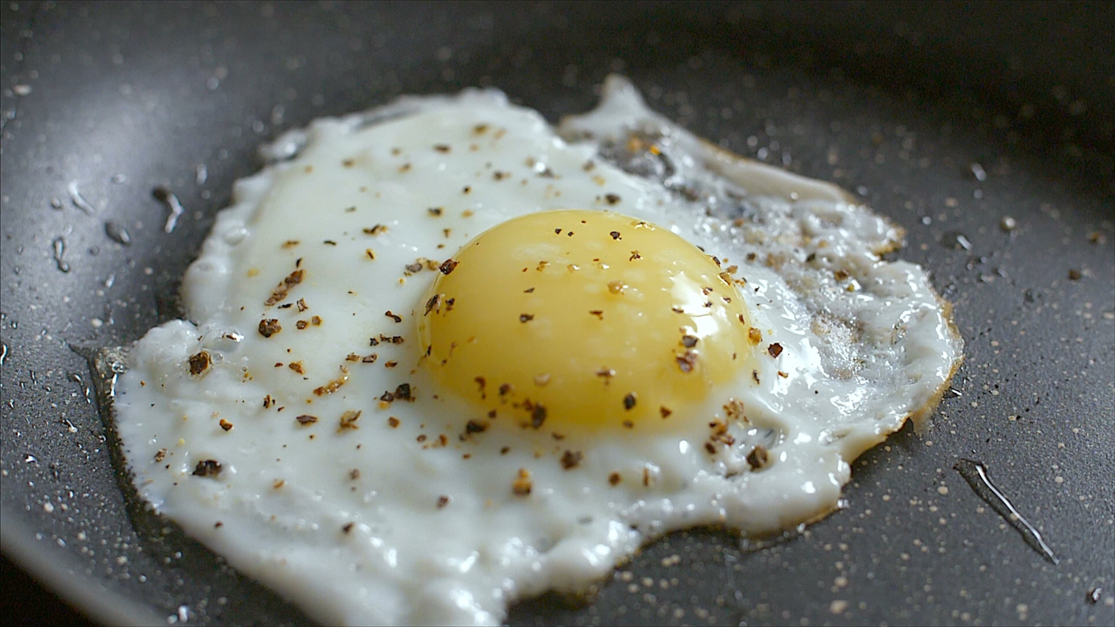 Close-Up View View Of A Sunny Side Up Cooked Egg