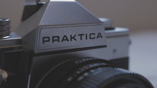 Close-Up View Of A Praktica Brand Camera