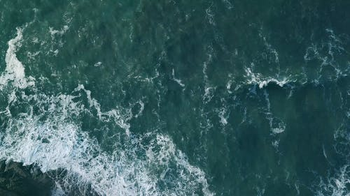 Bird's Eye View of Ocean Waves